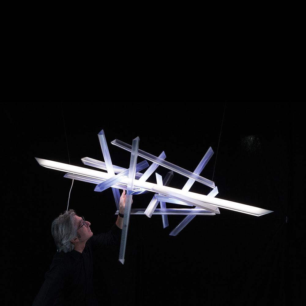Slamp LED Hängelampe La Traviata Lichtskulptur 6