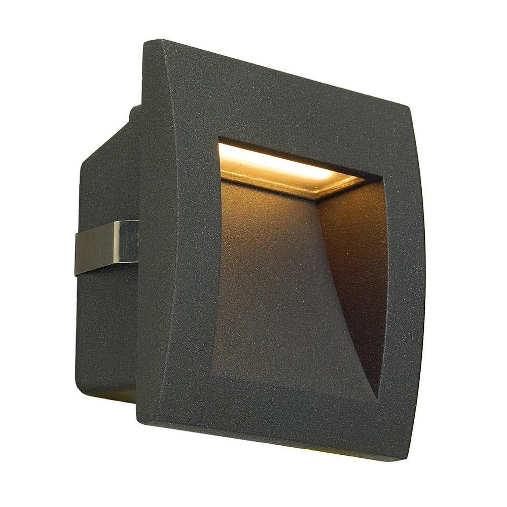 SLV Downunder OUT LED S Wandeinbauleuchte anthrazit 1