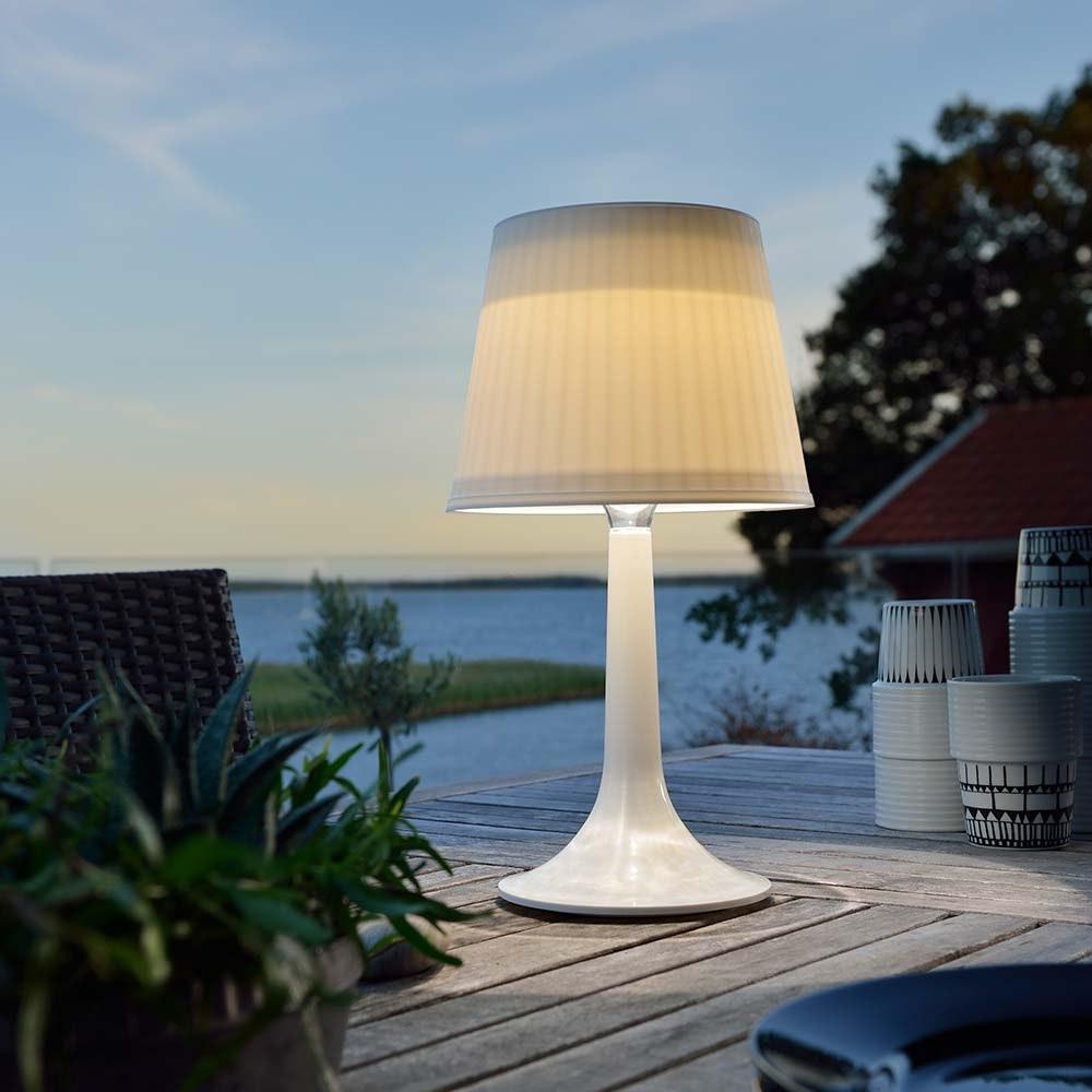 Solar LED Tischleuchte Assisi Weiß
