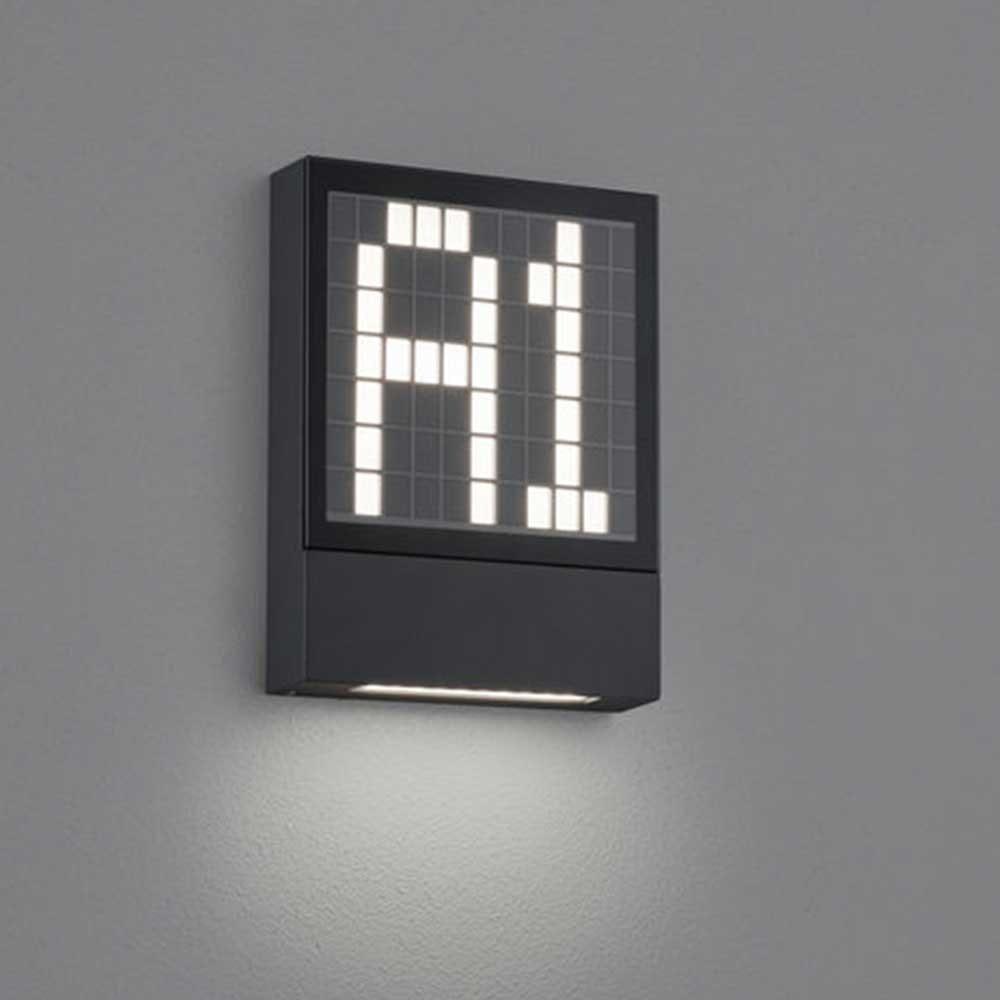 LED Außen-Wandleuchte Dial Hausnummernleuchte Anthrazit
