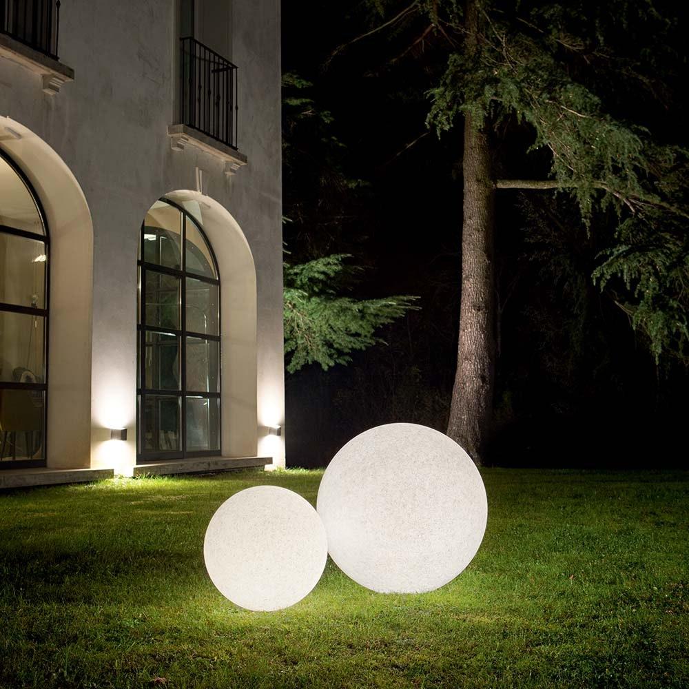 Ideal Lux Kugellampe Doris Ø 78cm IP44 Weiß 1