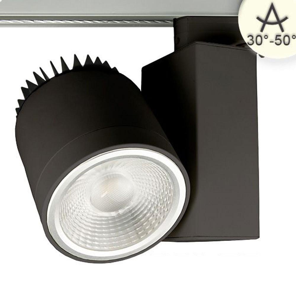 3-Phasen Power-LED Strahler 3000lm 4000K fokussierbar Schwarz dimmbar