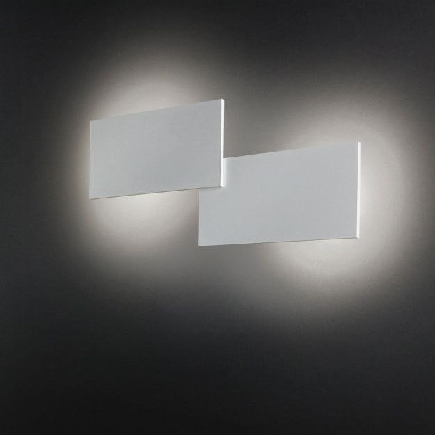 Studio Italia Design Puzzle Double eckig 66cm LED Wand- & Deckenleuchte