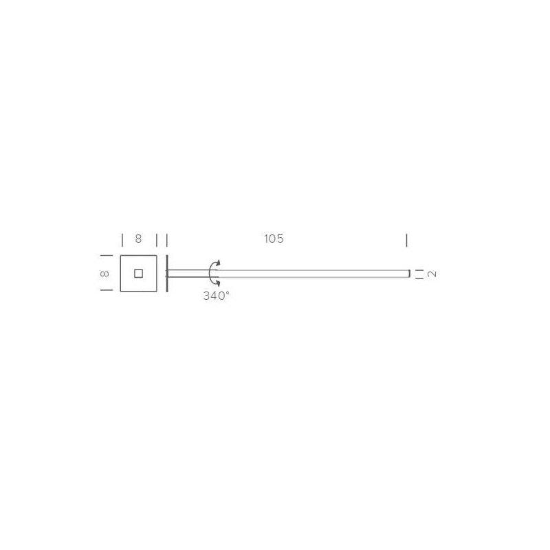 Nemo Linescapes Cantilevered LED Einbau-Wandlampe thumbnail 6