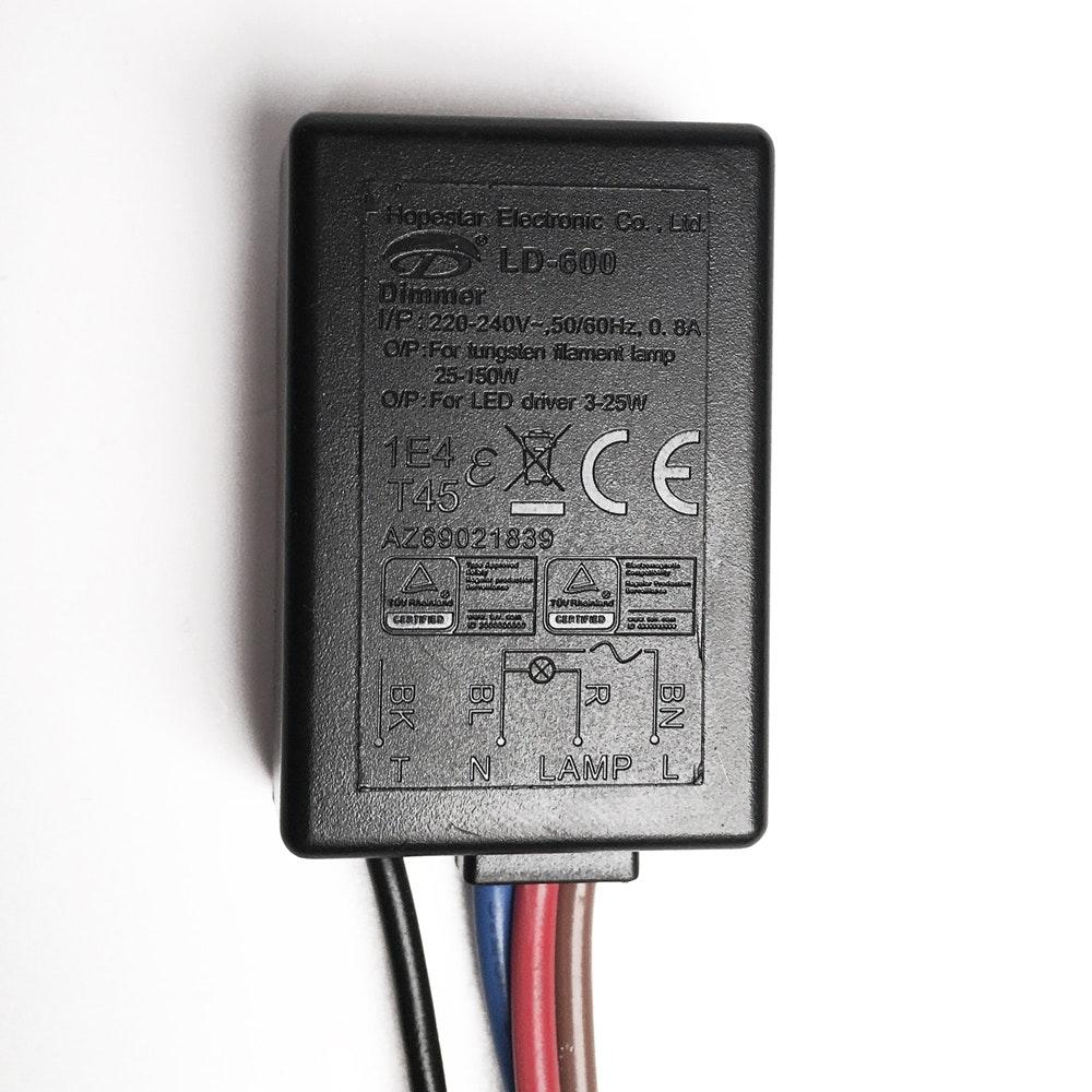 s.LUCE Touch-Dimmer Modul zum Nachrüsten für Lampen & Leuchten 2