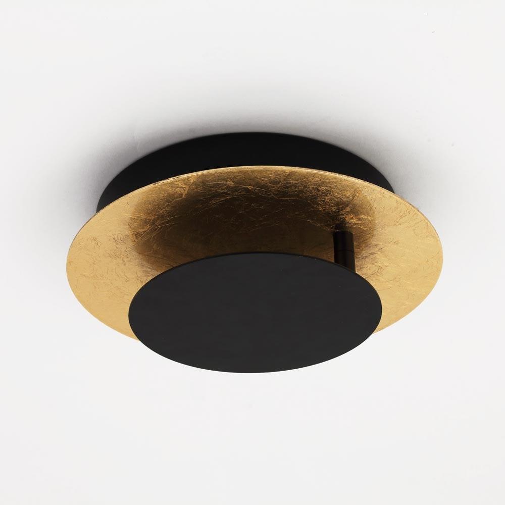 s.LUCE LED Wand- und Deckenlampe Plate Blattgold 19