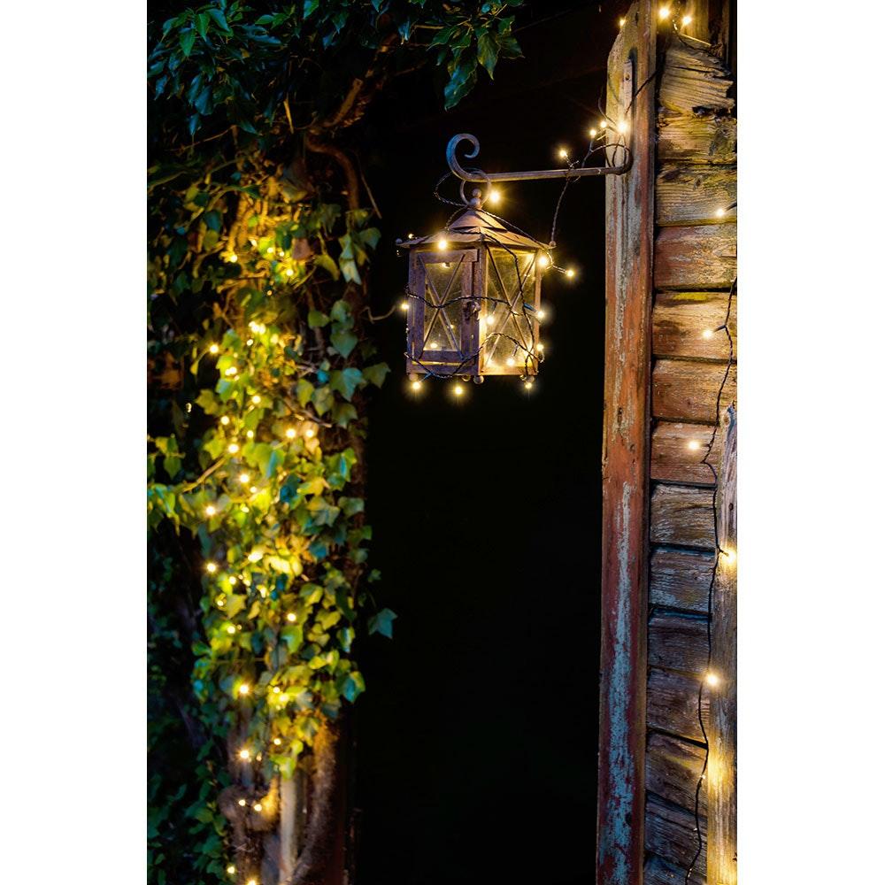 Micro LED Lichterkette gefrostet 200 Warmweiße Dioden IP44 11