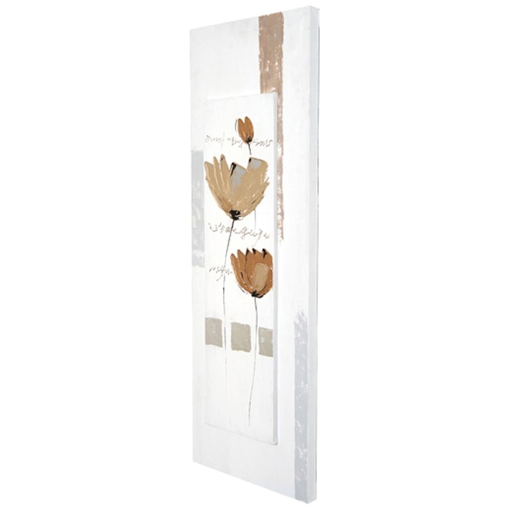 Wandbild Virtuoso Leinwand-Holzrahmen Weiß-Grau-Beige 3