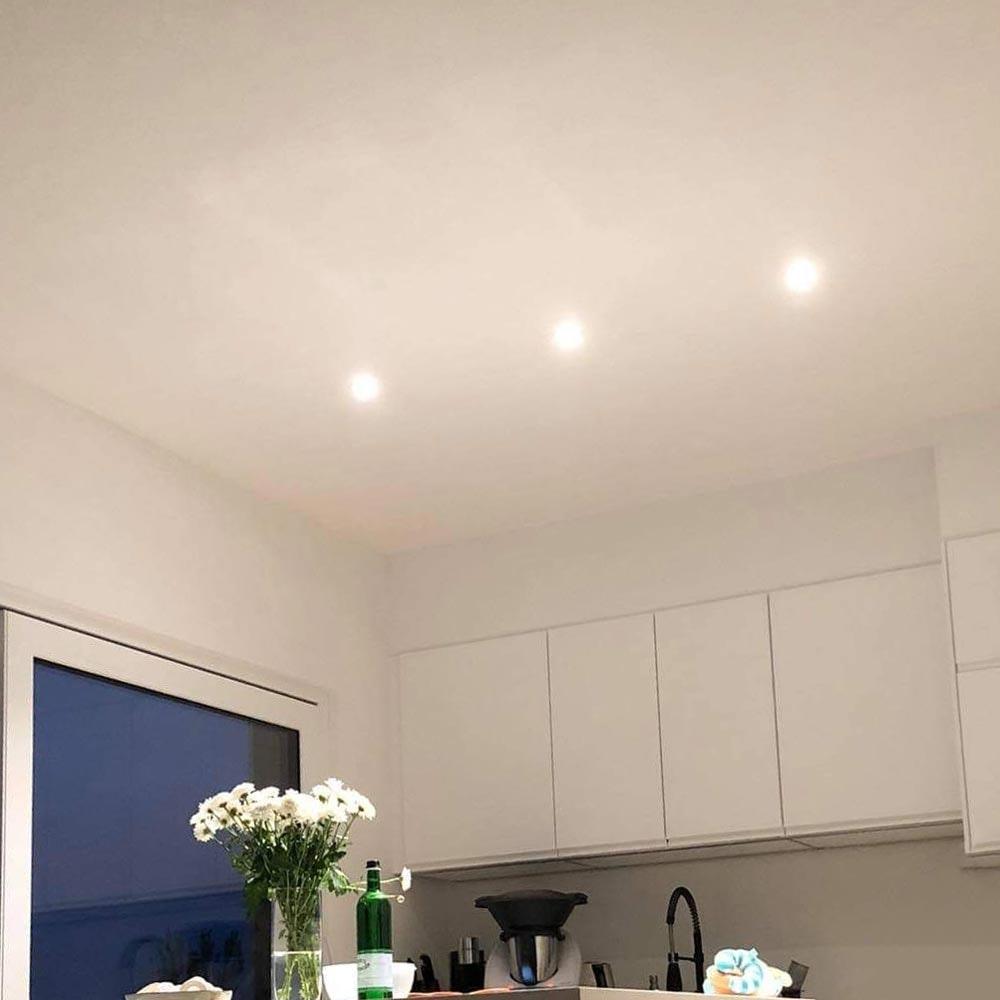 Brumberg LED Decken-Einbaulampe 470lm Weiß dim2warm IP65 4