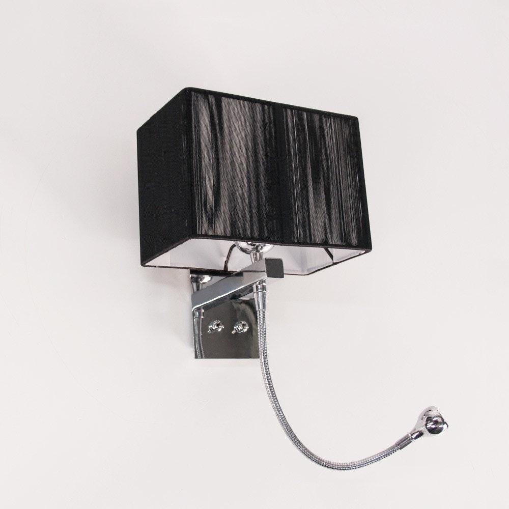 s.LUCE Twine Wandleuchte mit LED-Lesearm und Stoffschirm 10