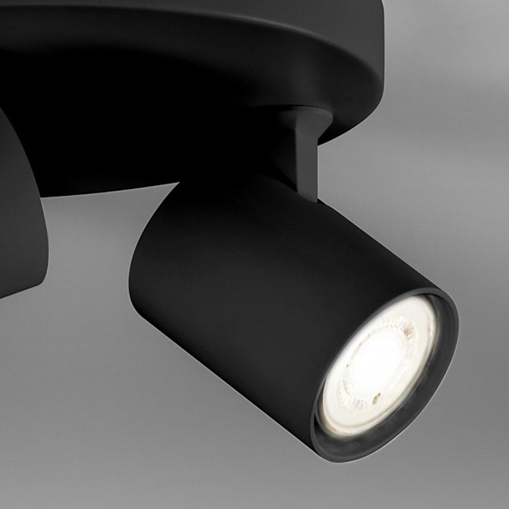 Licht-Trend 3er-Spot-Rondell Cup GU10 Schwarz thumbnail 3