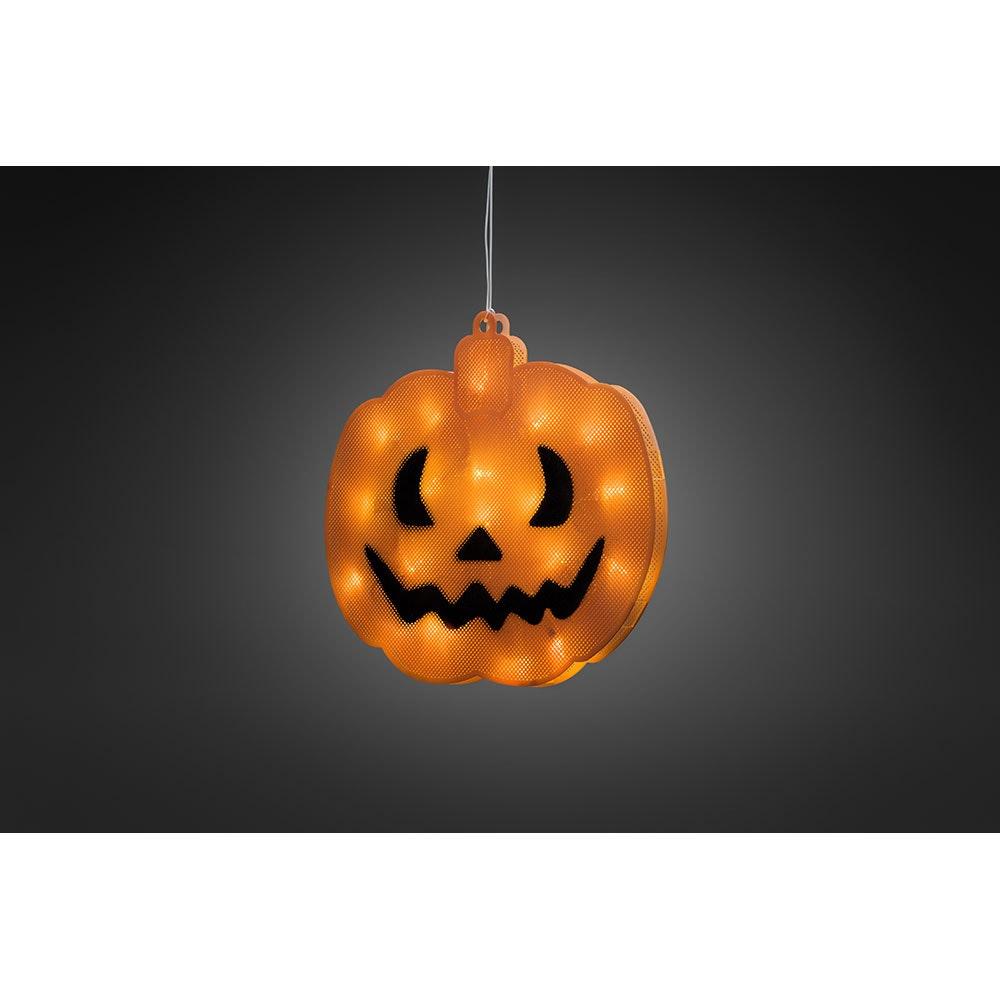 LED Fensterbild Kürbis für Halloween 2