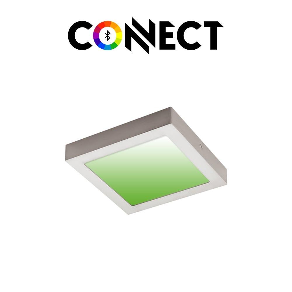 Connect LED Aufbaulampe 22,5x22,5cm 2000lm RGB+CCT 1