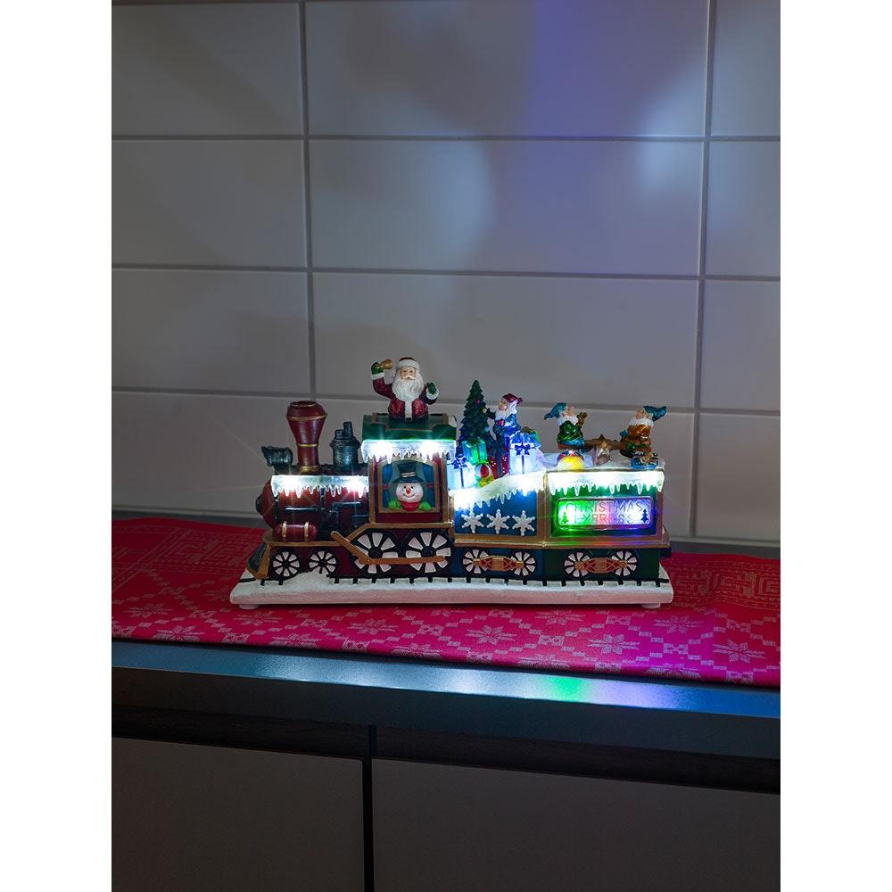 LED Weihnachts-Express Animation Weihnachtsliedern batteriebetrieben 1