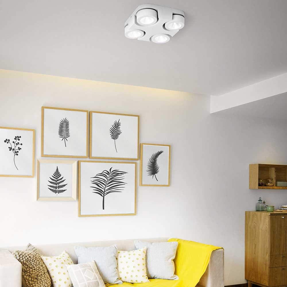 Fabas Luce LED Deckenleuchte Hella Ø 30cm 1