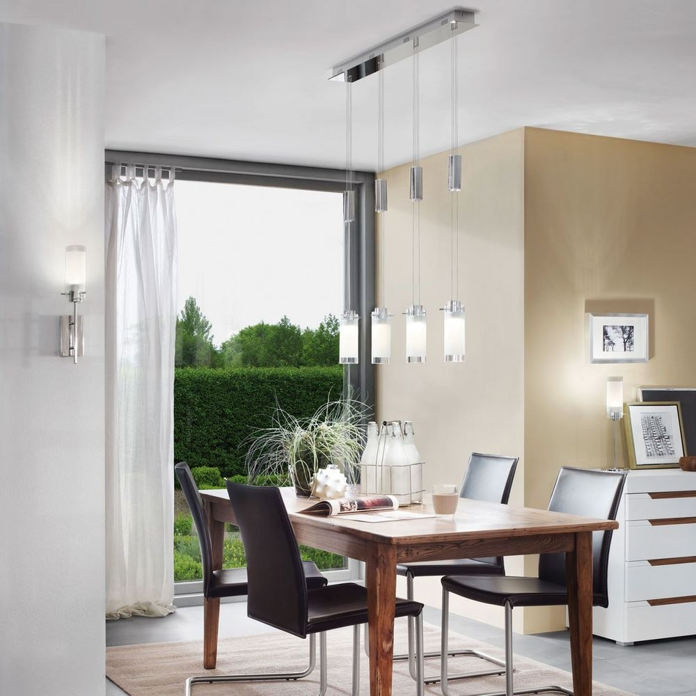 Aggius LED Tischleuchte Ø 12cm Weiß, Klar, Chrom thumbnail 3
