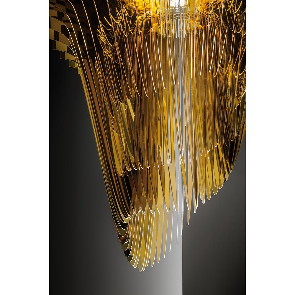 Slamp LED Hängelampe Aria Medium 3500lm 2700K Gold 8