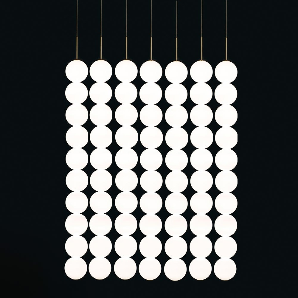 Terzani Abacus LED Design-Hängeleuchte 5er 2