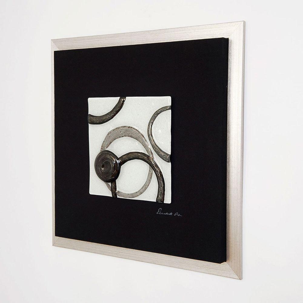 Wandbild Radiografa Holz-Leinwand-Glas Schwarz-Silber-Grau 2