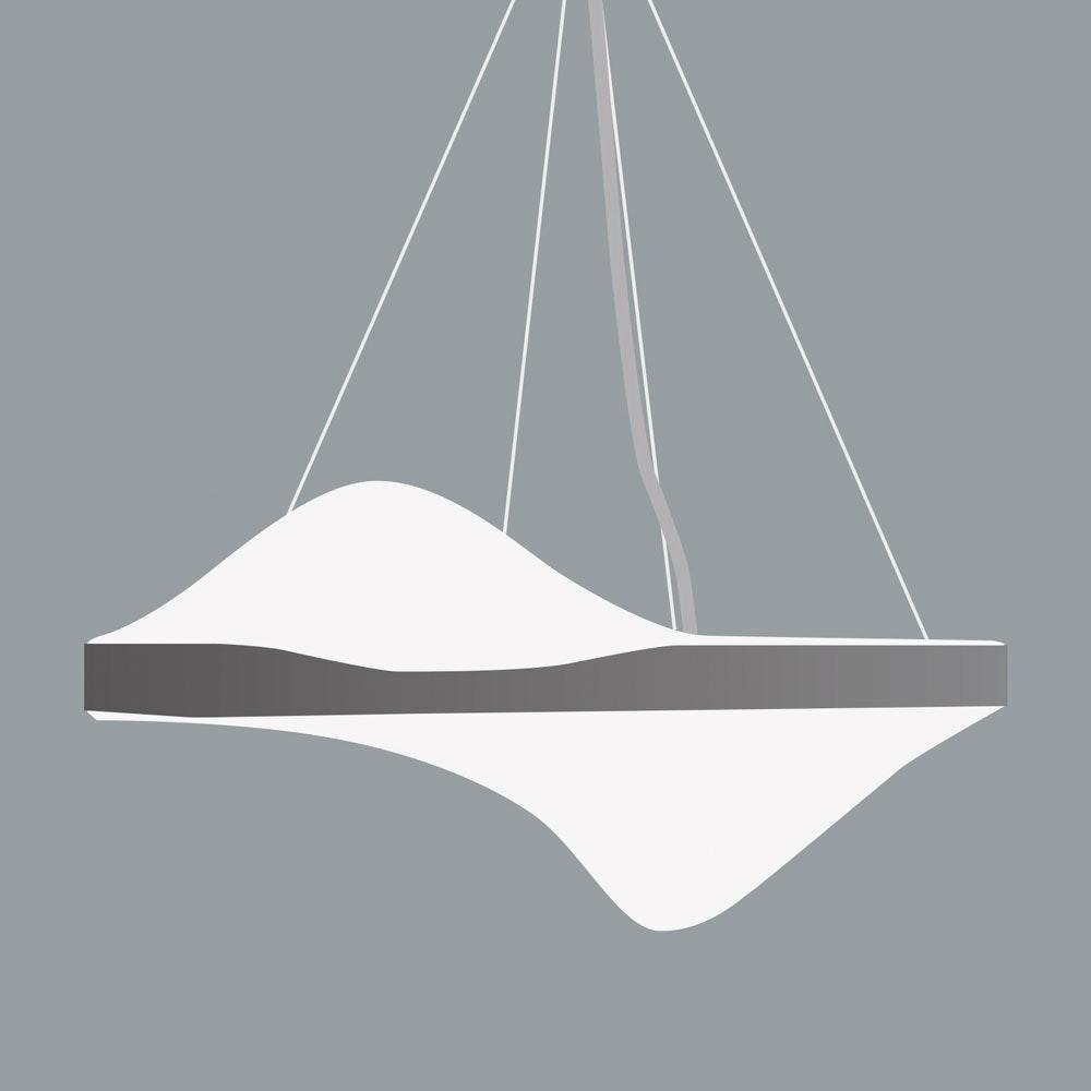 Kiteo Vibe Design-Pendellampe PI-LED DALI DT8 Weiß 1