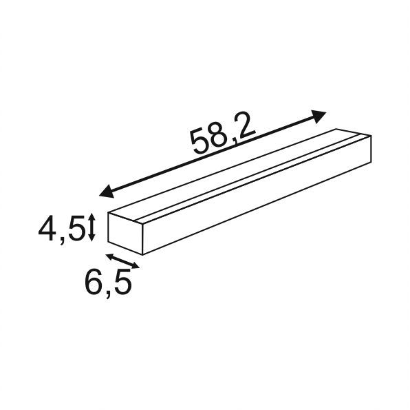 SLV Sight LED Wand- und Deckenleuchte mit Schalter 60cm Weiß 3