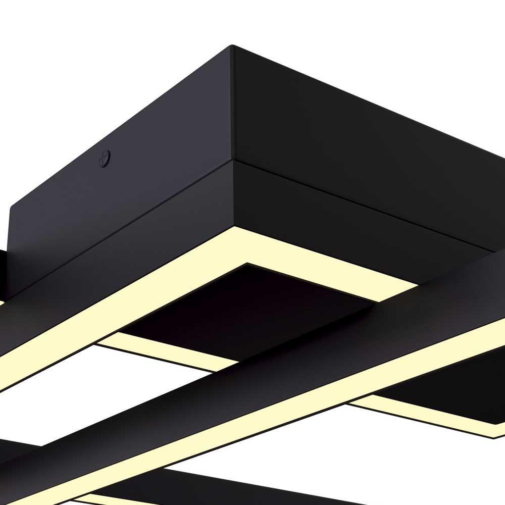 LED-Deckenleuchte Lines mit 3 Rechtecken 78cm 5000lm Schwarz 2