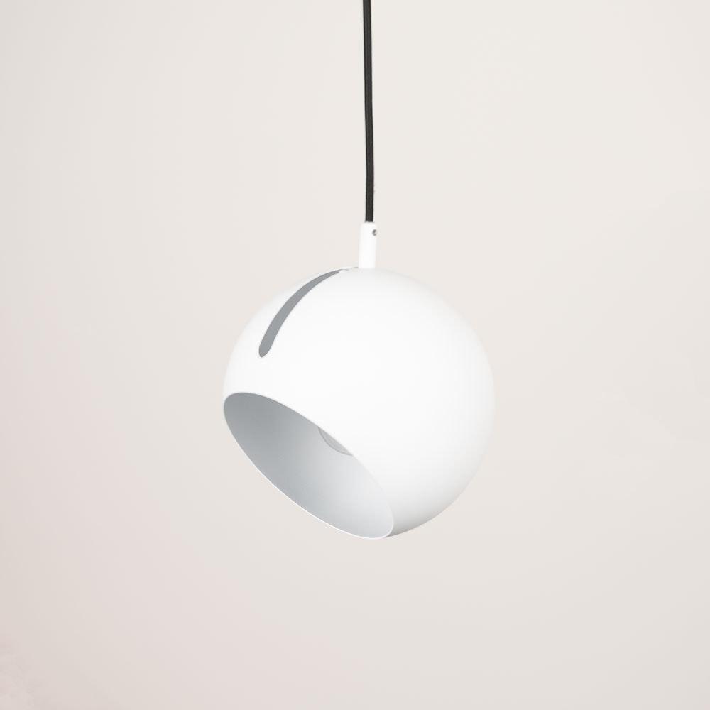 s.LUCE Ball Pendelleuchte verstellbar Ø 20cm Weiss 2