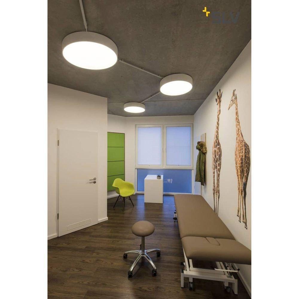 SLV Medo 90 LED Deckenleuchte Weiß optional abpendelbar // Ausstellungsartikel