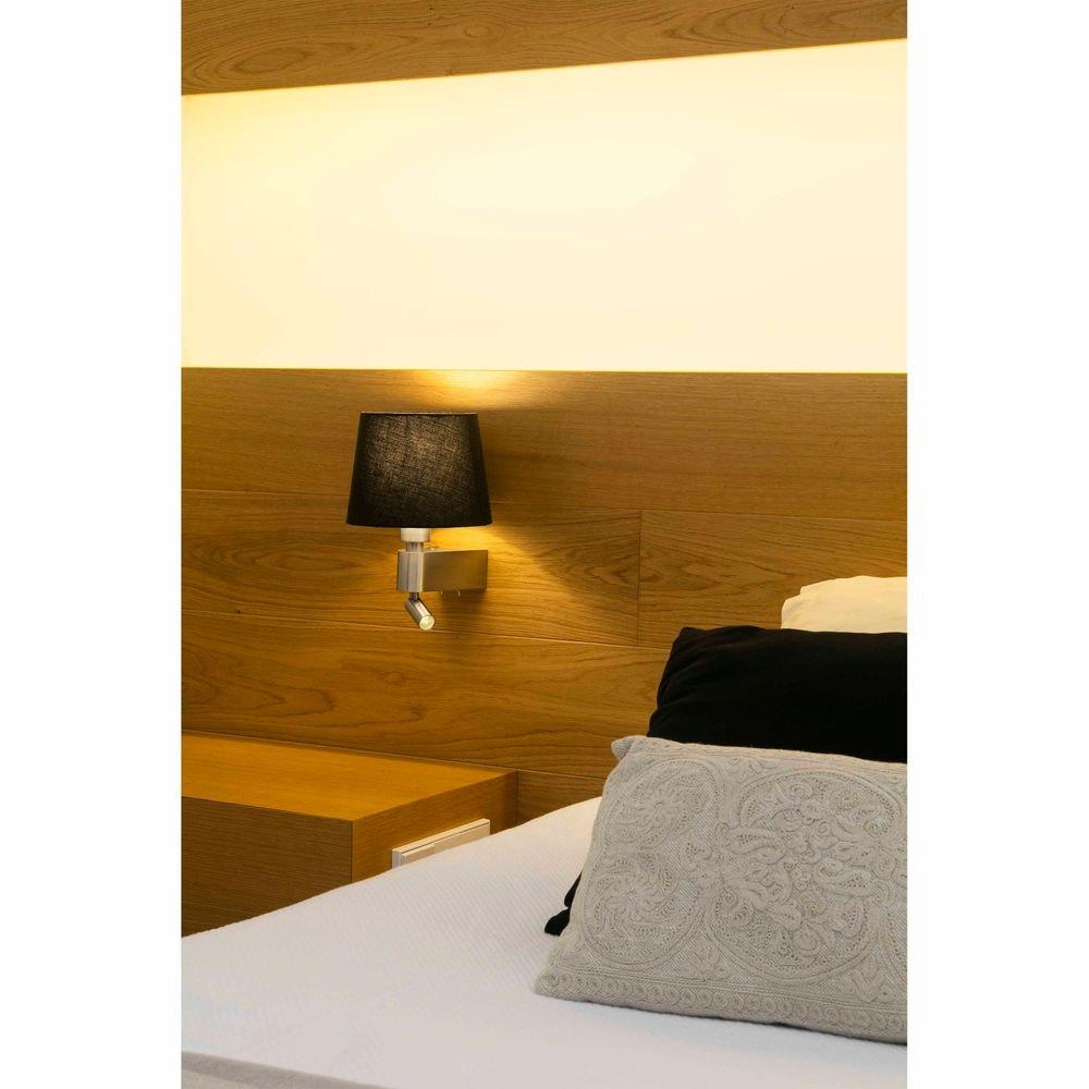 Wandleuchte ROOM mit LED-Leselicht 2700K Nickel, Schwarz thumbnail 3