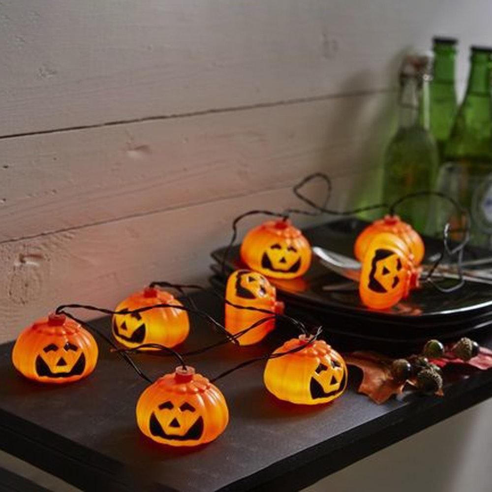 LED-Lichterkette Pumpkin 8tlg. orangene Kürbisse LED Outdoor