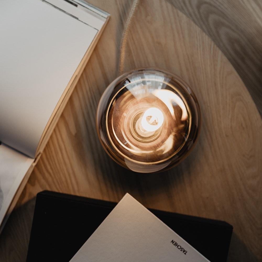 Holz Tischlampe Ø11cm in 3 Holzarten 11