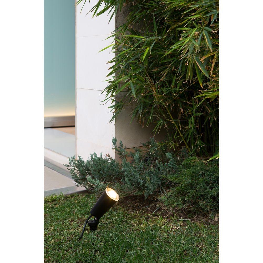 LED Gartenspot TONI mit Erdspieß IP65 Schwarz Küstenleuchte