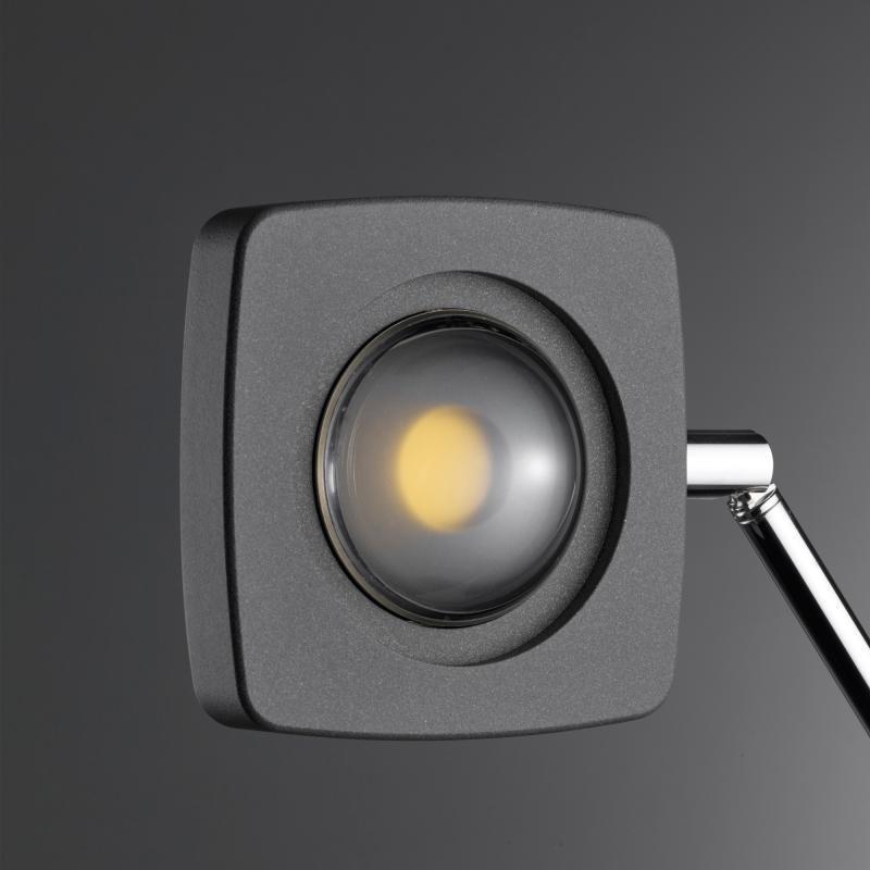Oligo LED Stehleuchte Kelveen mit Berührungsdimmer 90° Graphit-Matt 4