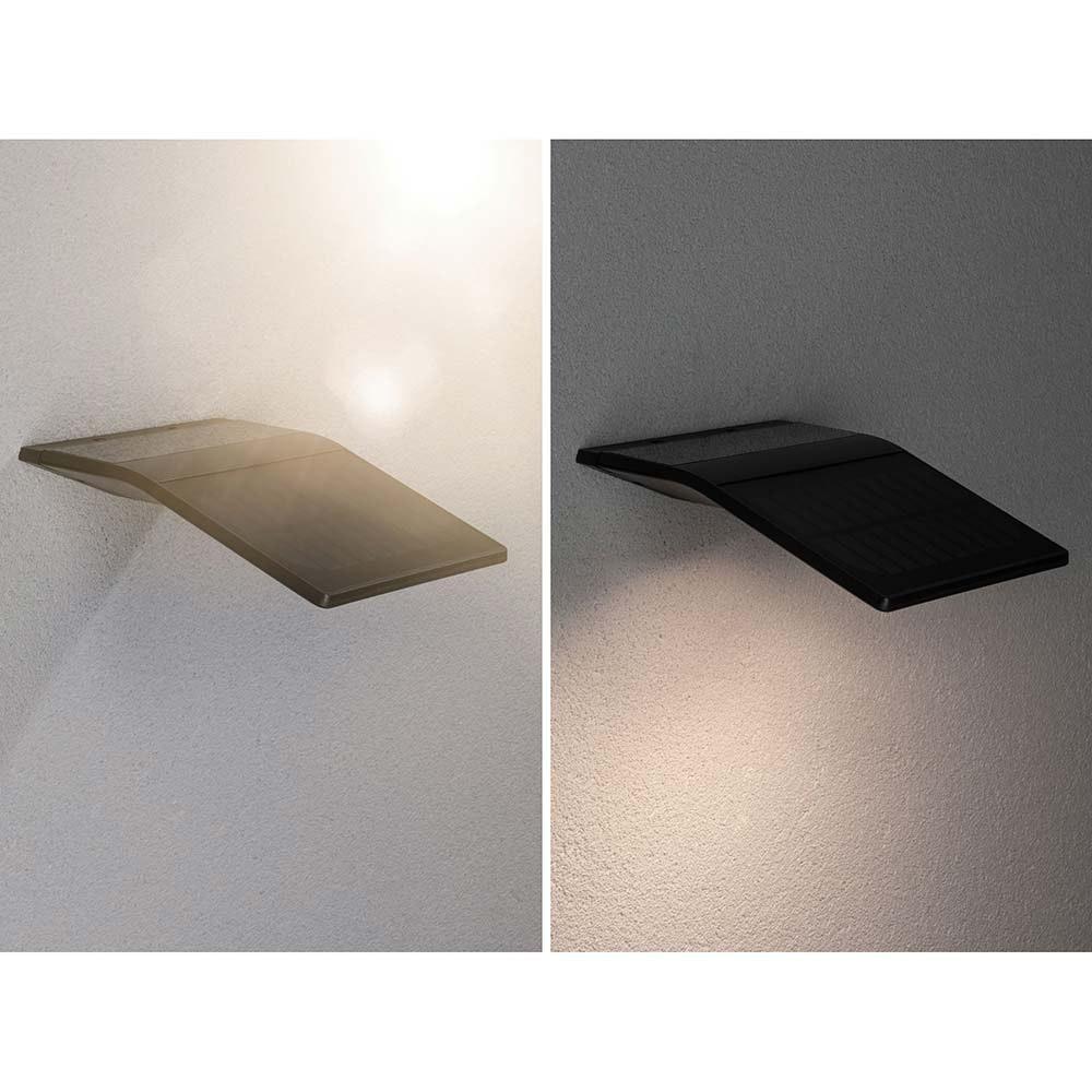 LED Wand-Solarleuchte Yoko mit Sensor IP44 3000K Anthrazit 4