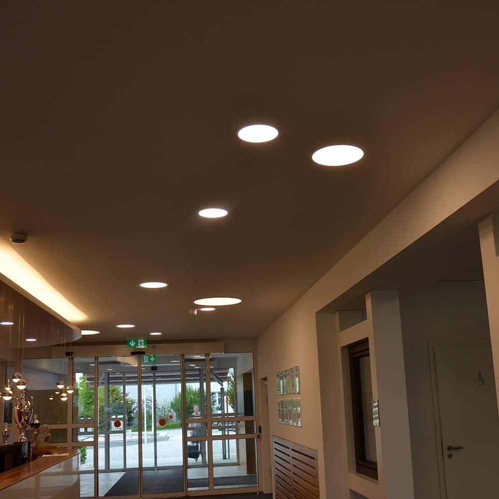 Indirektes Einbau LED-Panel 1030lm dimmbar Ø 17,3cm Warm Weiß 2