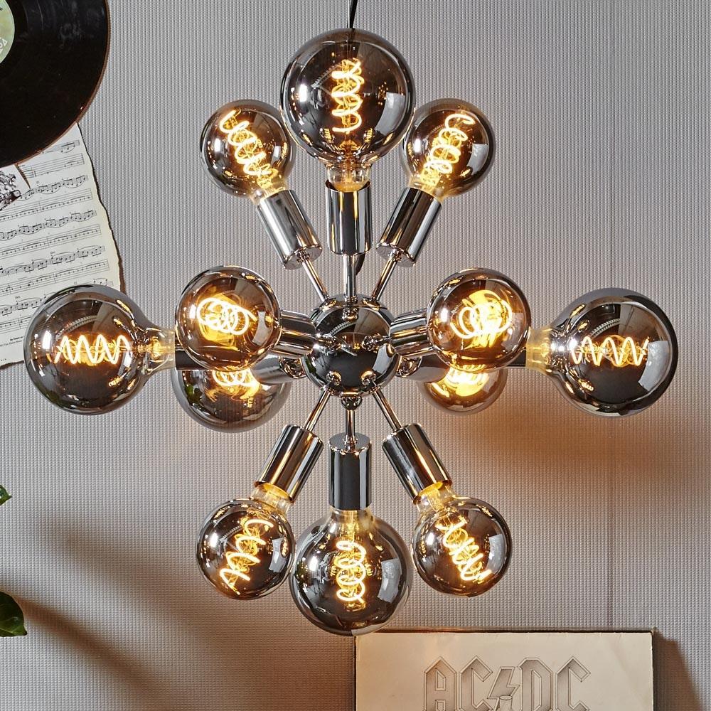 E27 LED Heavy Smoke 9,5cm Globe Dimmbar 90lm Extra Warmweiß thumbnail 4