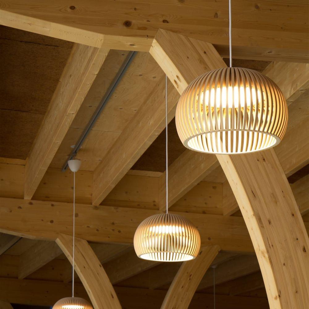 LED Pendelleuchte Atto 5000 aus Holz Ø 34cm 5
