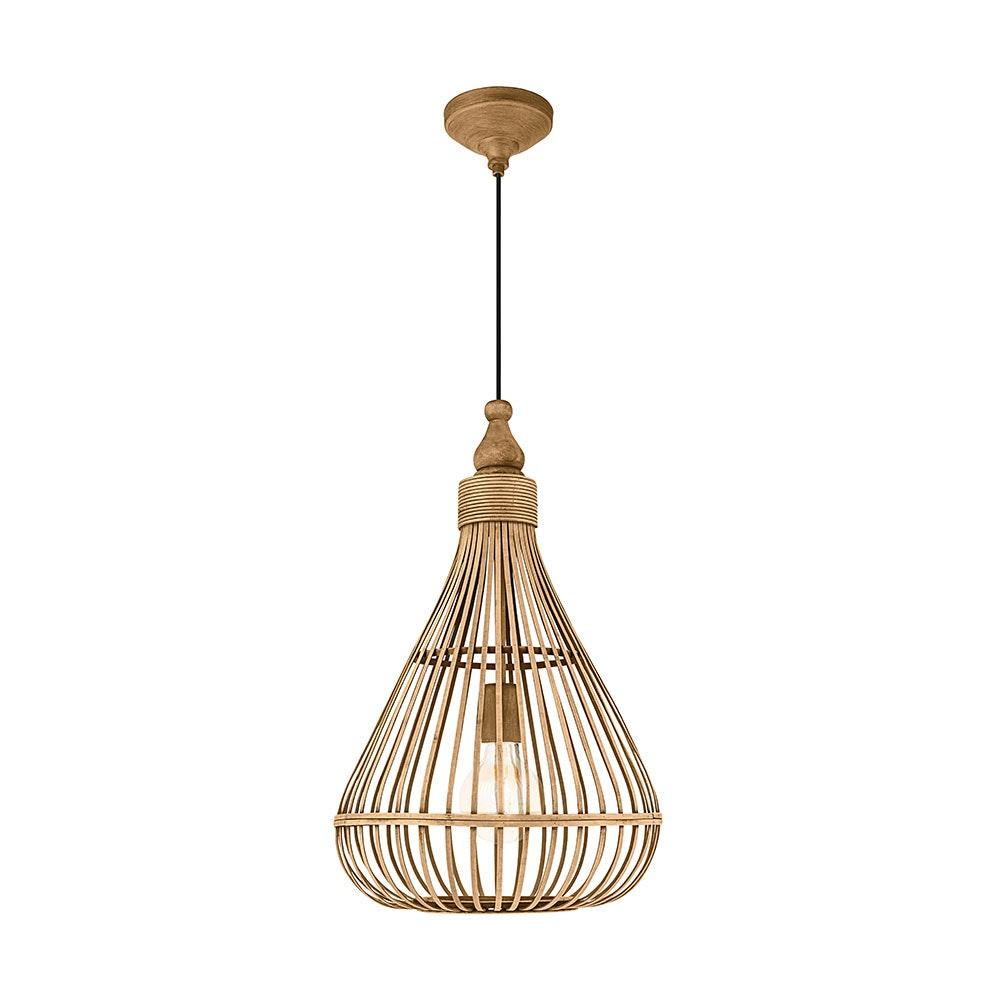 Licht-Trend Bambus Vintage Hängeleuchte Rio Ø 35cm Braun