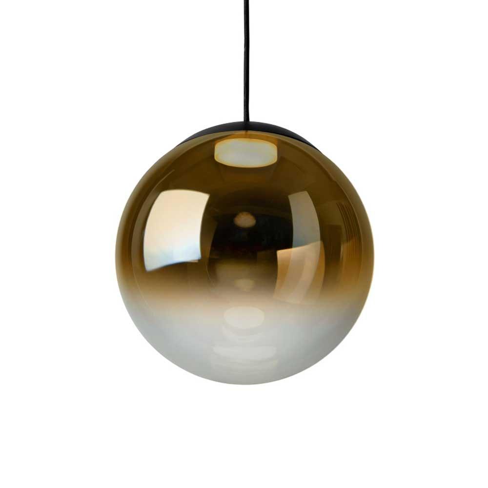 LED Glas Pendelleuchte Reflex Ø 25cm Schwarz, Goldfarben 1