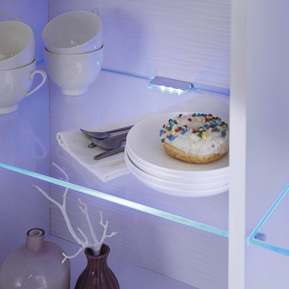 LED Vitrinen-Glasbeleuchtung Gastego Lichtfarbe Blau 2er-Set