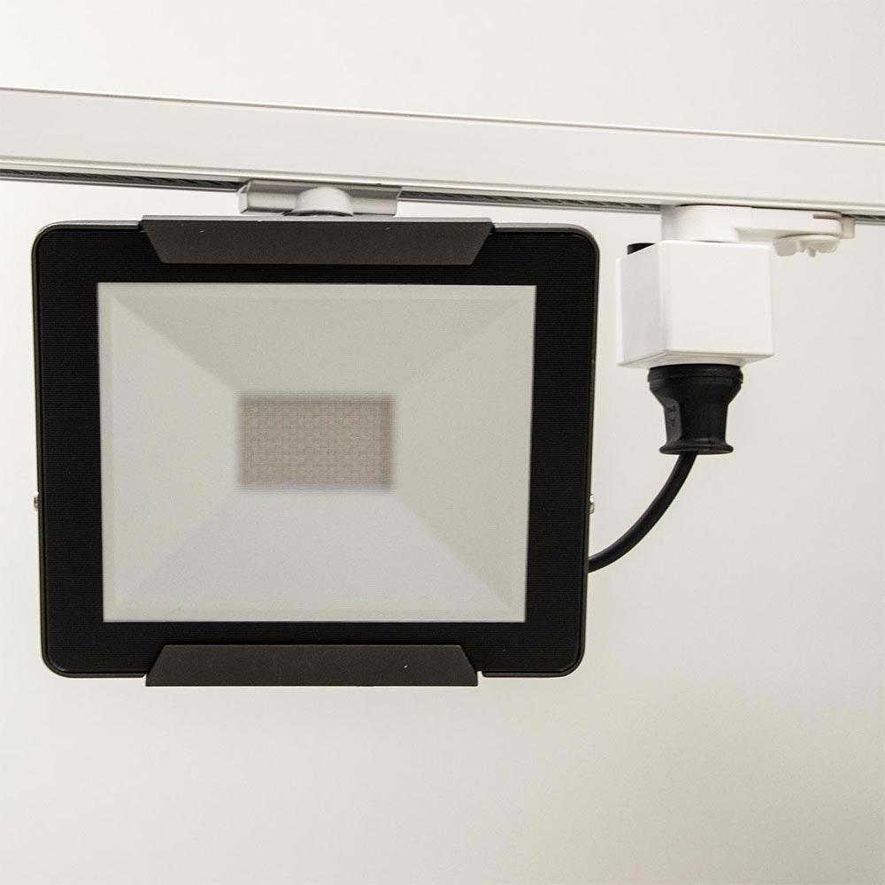 3-Phasen Steckdose mit Adapter mit Schutzkontaktstecker Weiß 2